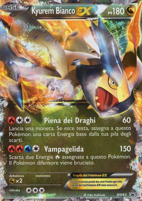 Pokemon carta olografica nuova kyurem bianco ex in - Carte kyurem ex ...