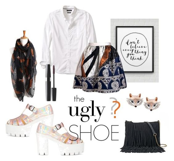 """""""Ugly (But Chic?!) Shoes"""" by annacullart ❤ liked on Polyvore featuring Banana Republic, Joana Almagro, SONOMA Goods for Life, Ross-Simons and uglyshoes"""