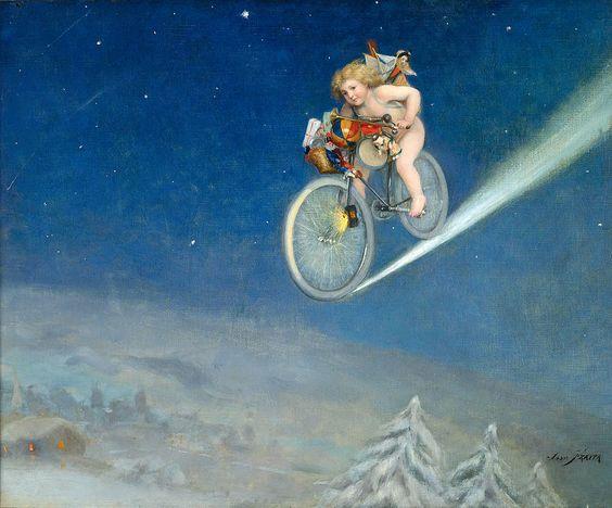 José Frappa (1854-1904) — Christmas Delivery   (900x748):