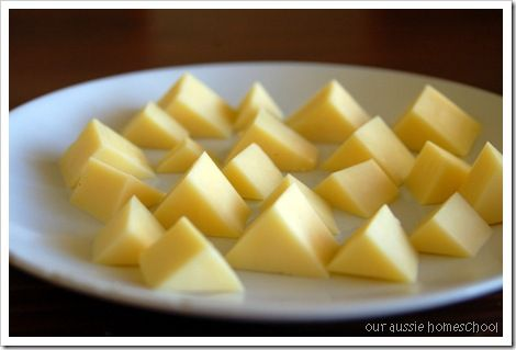 Cheese Pyramids - very cool ideas