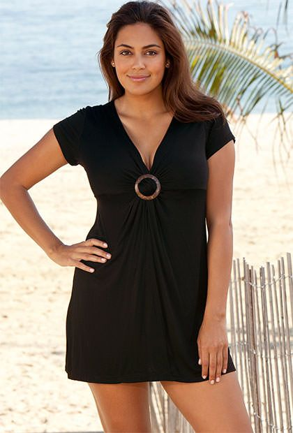 Midnight Plus Size Ring Front Tunic