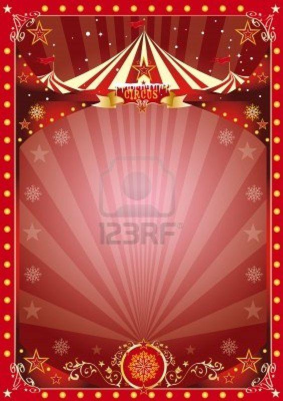 A circus poster on the christmas theme    Enjoy