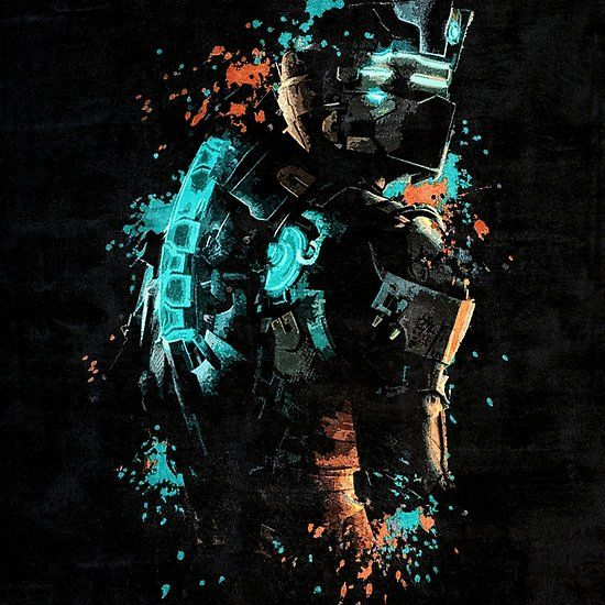 Dead Space Isaac Clarke Awesome Video Game Art FRAMED CANVAS WALL PRINT