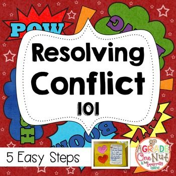 Resolving Conflict 101 {Help for Teachers/Activities for Students}