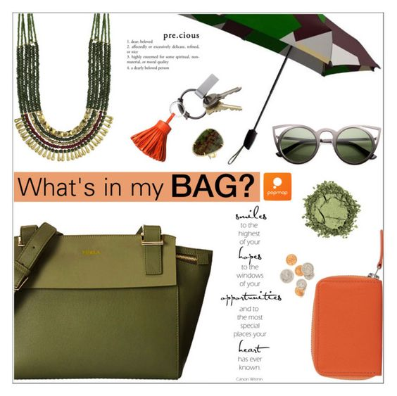 """""""What's in my bag by Popmap"""" by deeyanago ❤ liked on Polyvore featuring CB2, Carré Royal, women's clothing, women's fashion, women, female, woman, misses, juniors and popmap"""