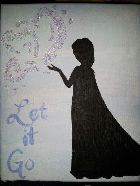 Frozen Elsa Silhouette Paint By Number Pinterest