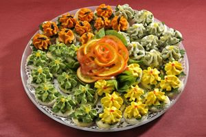 Rainbow Canape Assortment 40 pcs                4 types of cheese mousse canape: Dorblu cream, cheddar cheese cream, parsley green cream, grated egg yolk & cheese cream                                                                                                                                                                                                                          4 types of cheese mousse canape: Dorblu cream, cheddar cheese cream, parsley green cream, grated egg yolk…