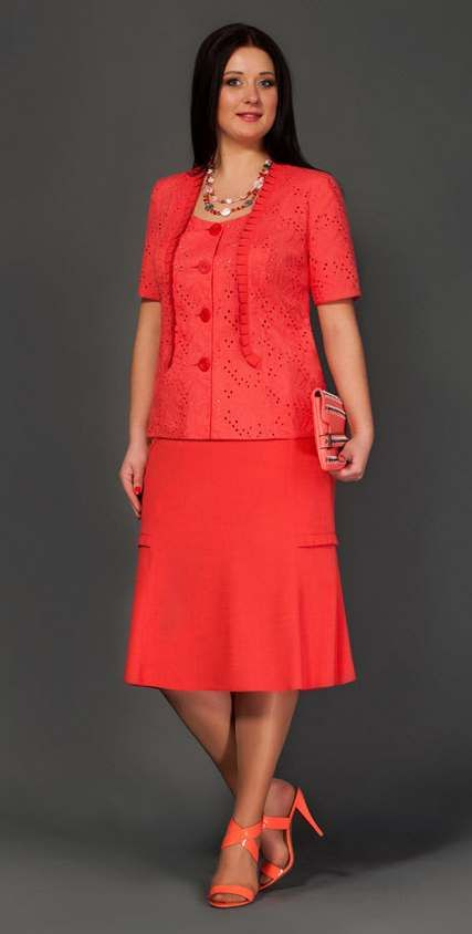 Костюмы для полных модниц белорусской фирмы Lissana. Весна-лето 2015