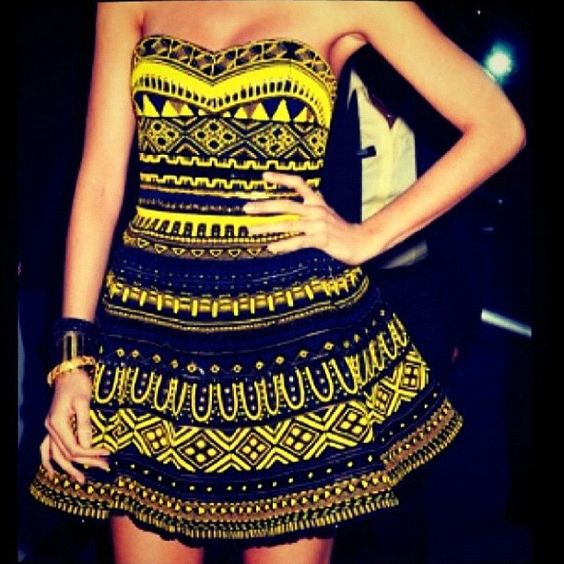 The bold yellow in this dress makes this print pop!