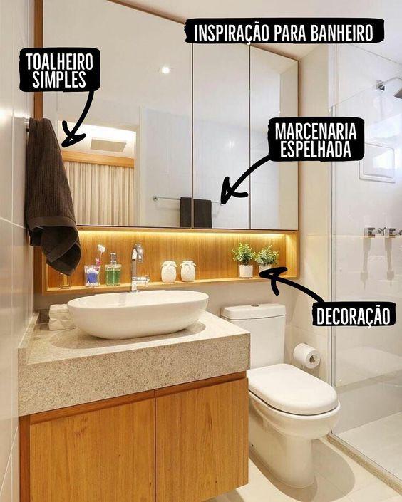 56+ banheiros pequenos: dicas e inspirações – Dicas Decor