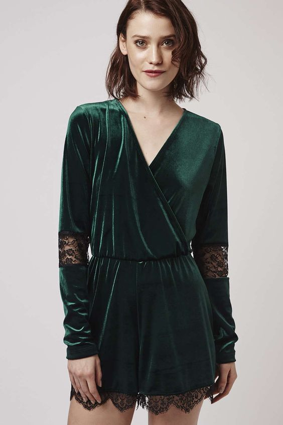 Photo 3 of Velvet Lace Playsuit: