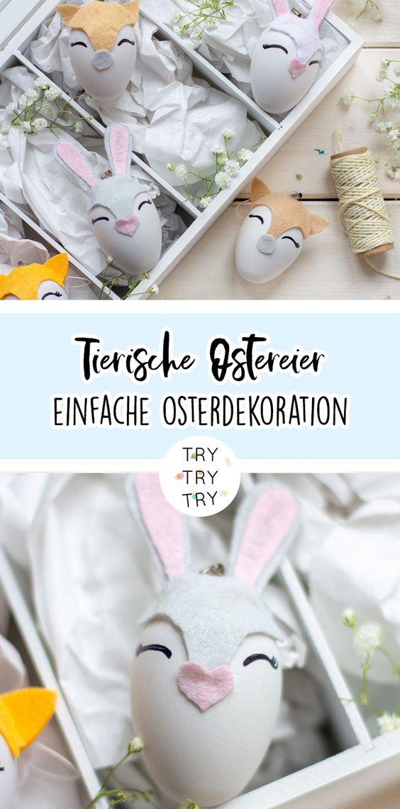Tierische Ostereier als Dekoration oder DIY Geschenk