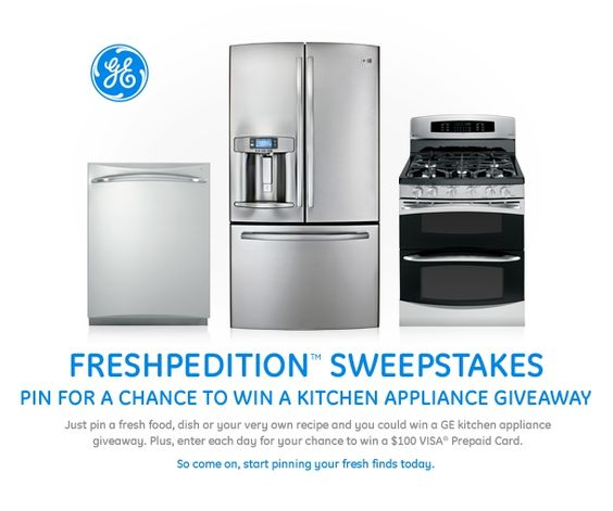 Pin for a chance to win the GE Freshpedition Sweepstakes #GEfresh.  I love all my GE appliances:)