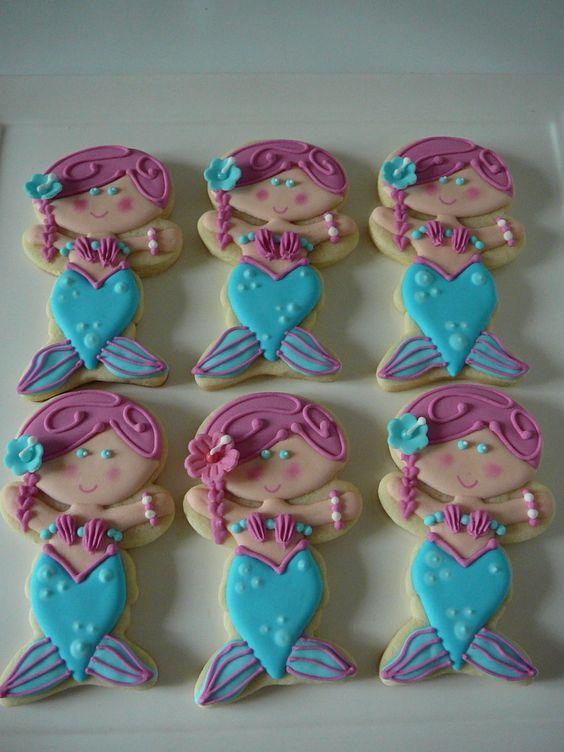 Mermaid And Sea Shell Cookies