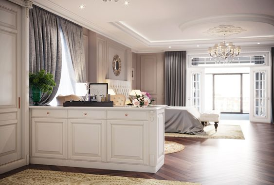 Neoclassical bedroom on Behance
