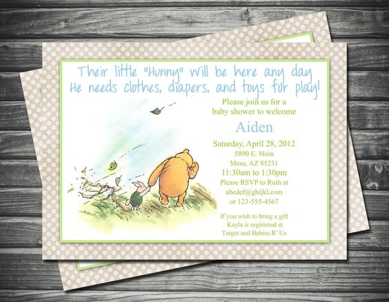 invitations baby shower invitations baby showers winnie the pooh
