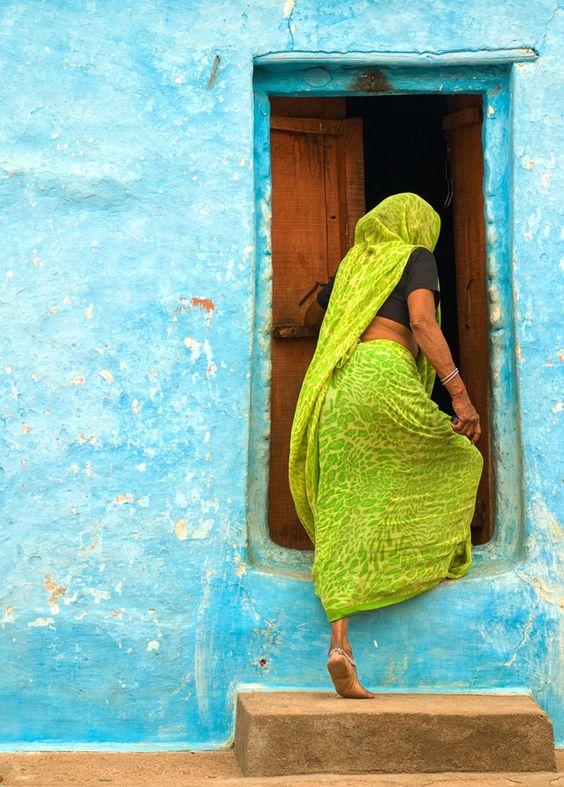 Deliciosa combinación de colores. India mágica.