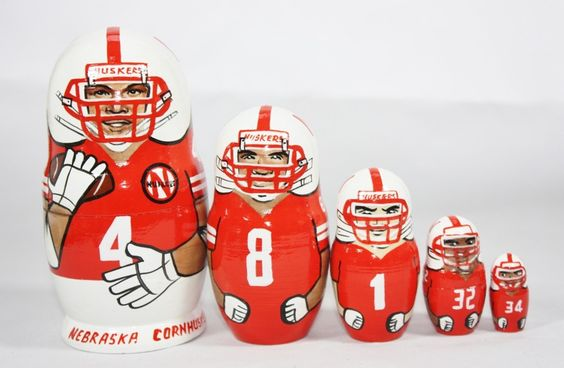 "University of Nebraska Cornhuskers Matryoshka (6"") - Matroyshka ..."