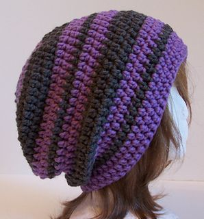 Fascination Street Slouchy - Free crochet hat pattern by ...