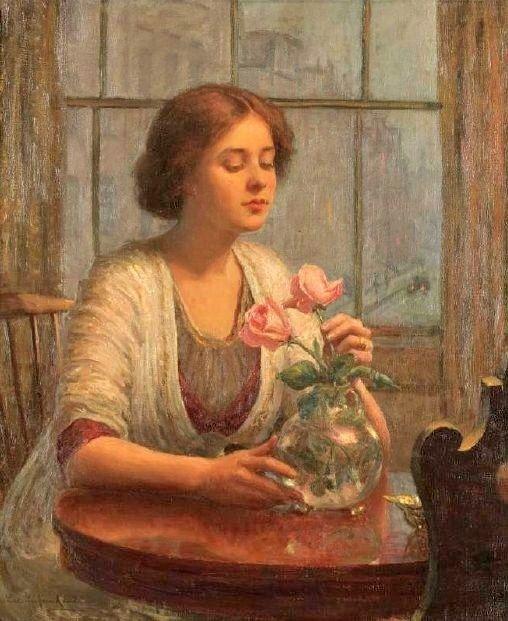 Arranging Flowers in 19C & early 20C America                          Lee Lufkin Kaula Erie Pennsylvania (1865-1957):
