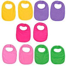 Terry cloth are most absorbent! Koala Baby 10-Pack Girl Brights Bibs