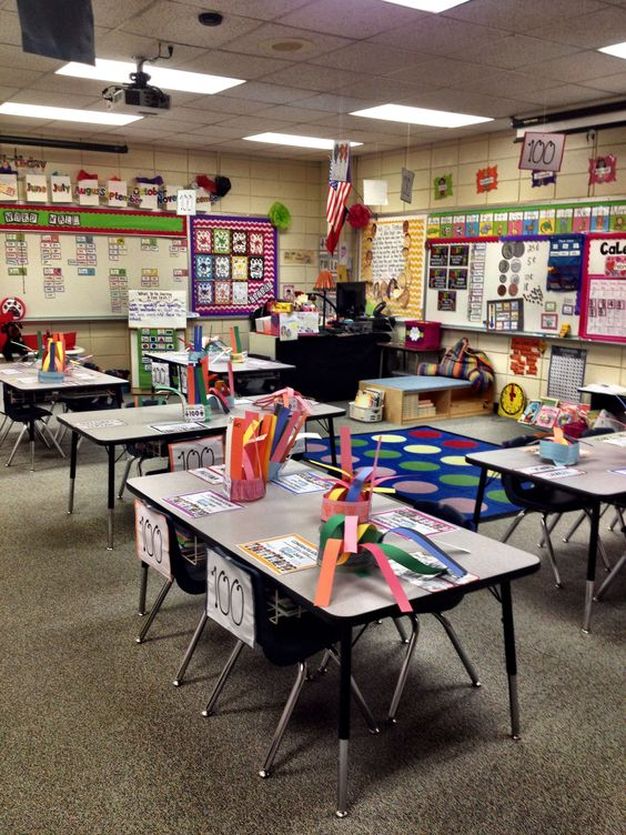 One Fab Teacher's Classroom on the 100th day of school.