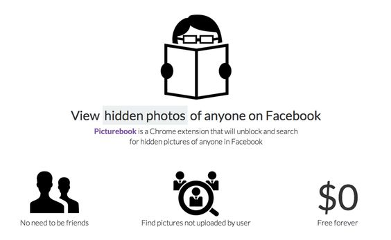 Picturebook Revela Fotografias Escondidas do Facebook