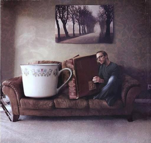 feel great with a good book and a warm cup of coffee