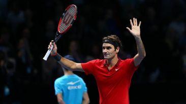 Venció a Raonic en su debut del Masters de Londres. Nov 09, 2014.