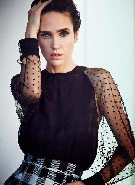 Jennifer Connelly by Will Davidson in The Edit...quiero la camisa y los ojos de Jenn...