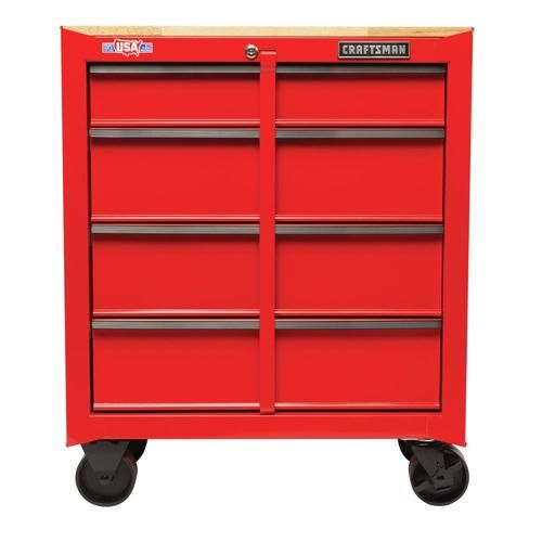 Craftsman 1000 Series 26 5 In W X 32 5 In H 4 Drawer Steel Rolling Tool Cabinet Red At Lowe S Our Craftsman 26 In Wide Mobile Workbe Craftsman Mobile Workbench Cabinet