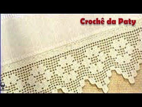 Barradinho Carreira Unica De Croche Facil 97 Youtube Com