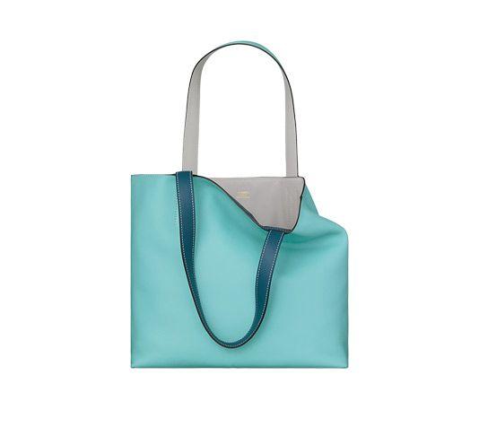 usl hermes luggage - Double Sens Hermes reversible tote bag in atoll blue swift ...