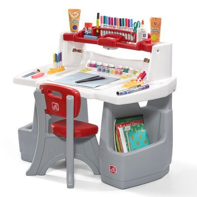 Step2 Deluxe Art Master Kids 2 Piece Art And Crafts Table And