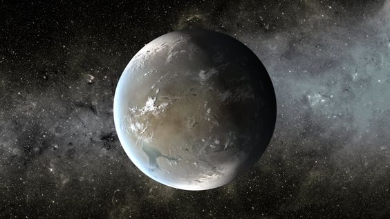 An artist's depiction of Kepler-62f. Credit: NASA Ames/JPL-Caltech/T. Pyle