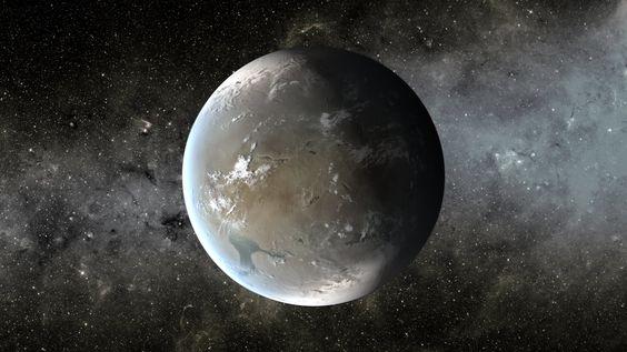 An artist's depiction of Kepler-62f. Credit: NASA Ames/JPL-Caltech/T. Pyle