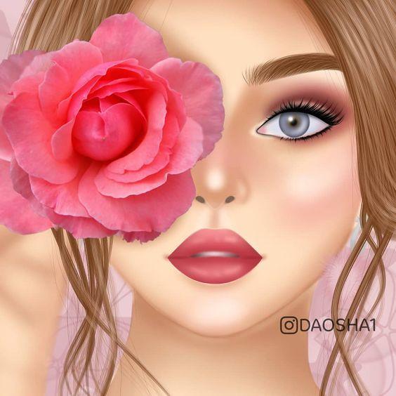 شنو لون بشرتكم اني بيضه Fashionyista صور كارتونية للحلوات منشن لصديقاتك تشوفهن معك Beautiful Girl Drawing Girly Drawings Digital Art Girl