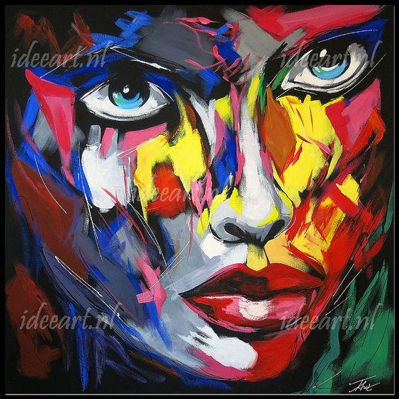 Schilderij abstract gezicht   schilderijen abstract