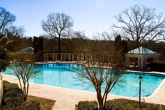 The property features one of the country's most expansive private swimming pools– ittakes 350,000 gallons of water to fill it.