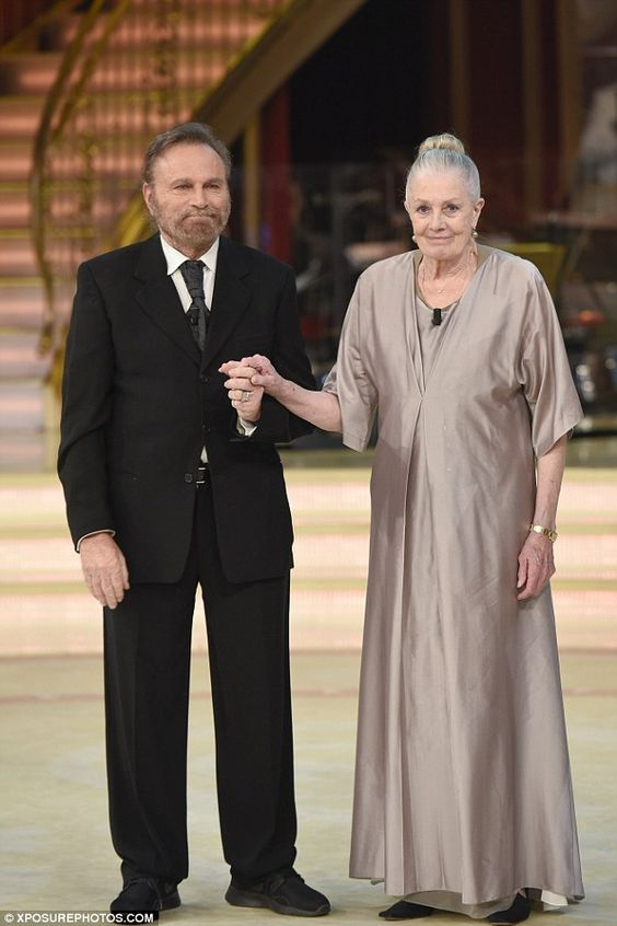 Poised: British acting legend Vanessa Redgrave looked elegant as she took to the dance floor with her husband Franco Nero on the Italian version of Dancing with the Stars on Saturday