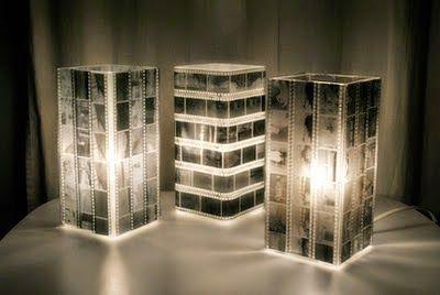 OS MELHORES ARTESANATOS: Luminária com negativos de filme fotográfico