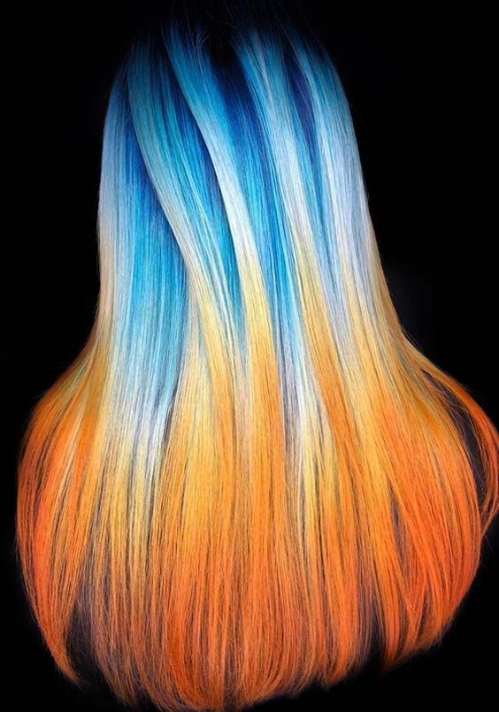 48 Best Blue Orange Hair Colors Combinations For 2018 Hair