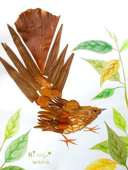 44 Contoh Dedaunan Kering Yang Digunakan Untuk Kolase Pemandangan Alam Adalah Terbaru Hewan Kolase Pemandangan