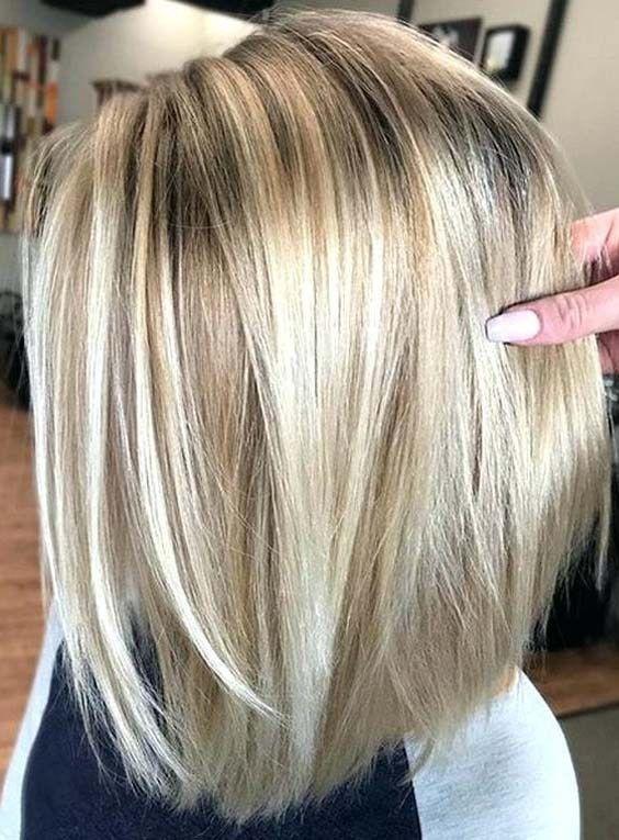 Light Blonde Bob With Dark Brown Highlights Light Blonde Hair
