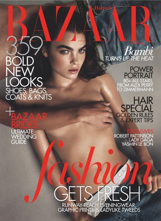 Harper's Bazaar Australia June/July 2011 Cover Bambi Northwood-Blyth by Lachlan Bailey