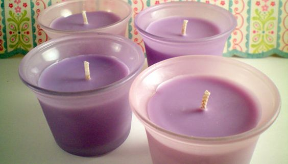 Four Soy Votive Candles Reclaimed Glassware by PiixlWixCandleCo, $9.95