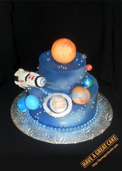 Cosmonaut Birthday Cake