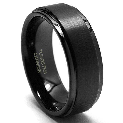 8MM Black High Polish / Matte Finish Men's Tungsten Ring Wedding Band Metal Factory. $18.99. Nickel Binder. Tungsten carbide. Hypoallergenic. Comfort Fit Design
