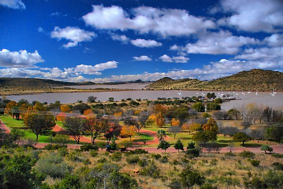A view of the Gariep Dam near Colesberg, South Africa.