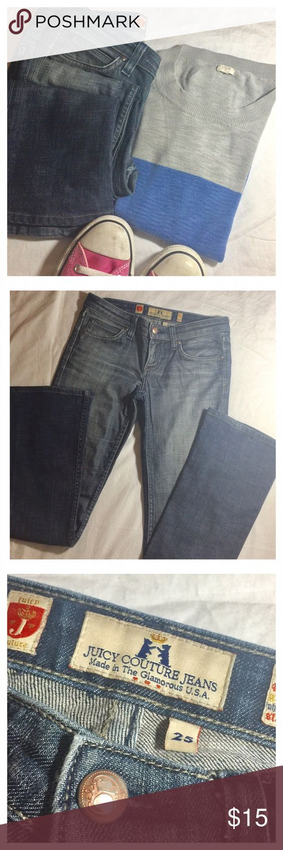 JUICY Courture Jeans ripped good condition JUICY Courture Jeans ripped wide leg good condition Juicy Couture Jeans Flare & Wide Leg